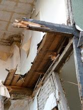 Photo: Holzdielen von unten