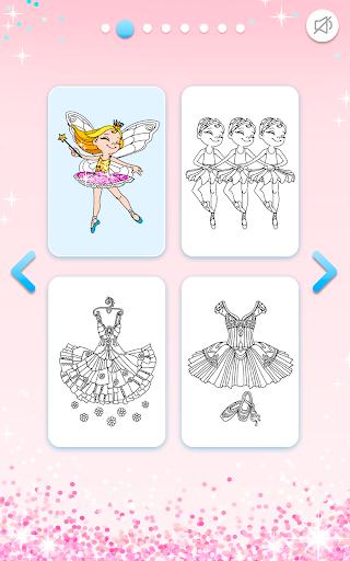 Ballerina Coloring Book Glitter - Girl Games android2mod screenshots 9