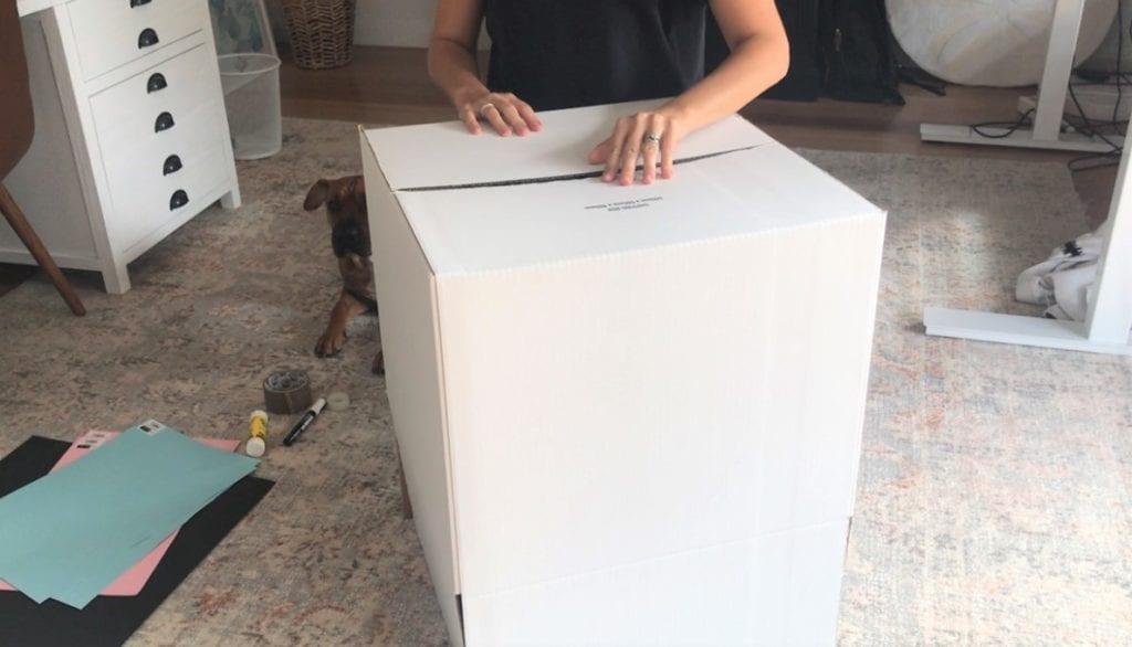 montar caixa papelão