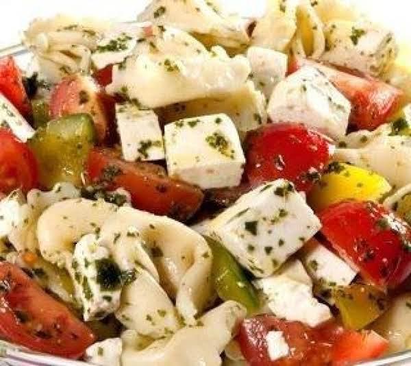 Holiday Tortellini Salad.  By Pat Lavigne Recipe