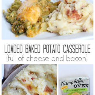 Broccoli Chicken and Twice Baked Potato Casserole.