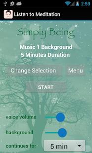 Simply Being Guided Meditation - screenshot thumbnail