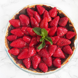 Strawberry & Mint Pie