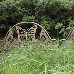Set 3 x Gard de gradina - model fluturi, 50 x 22.5 cm
