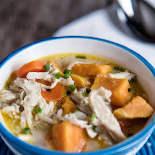 Creamy Chicken And Vegetable Soup.