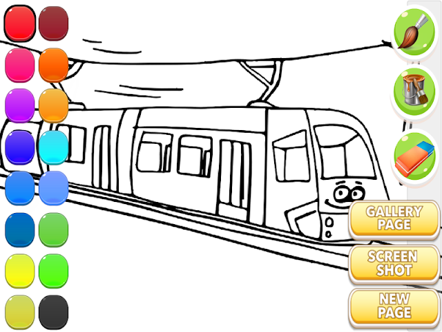 android Train Coloring Book Screenshot 1