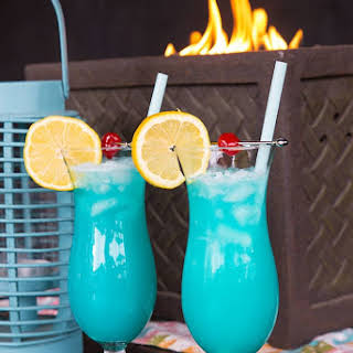 The Blue Lagoon Cocktail Drink.