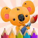 Сoloring Book for Kids with Koala icon