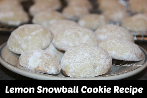 Lemon Snowball Cookie