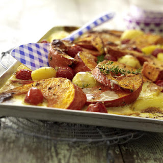 Creamy Pumpkin and Potato Bake