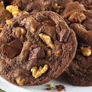 Double Chocolate Chunk Mint Cookies.