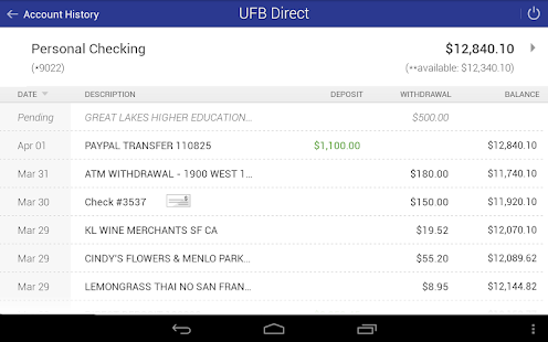 UFB Direct Mobile App- screenshot thumbnail