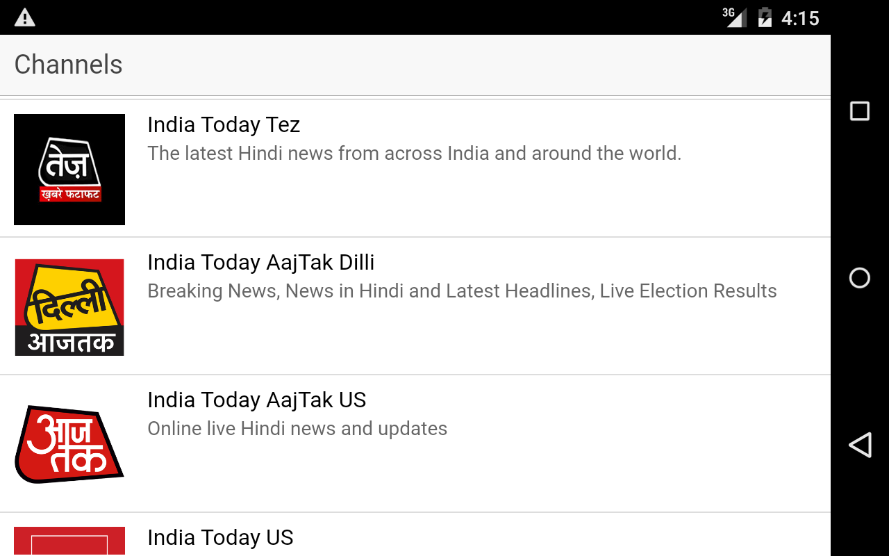 India Today Channels- screenshot