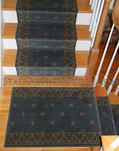 Photo: Serged end runner landing. www.StairRunnerStore.com
