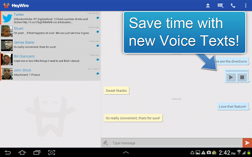 GoHeyWire Text FREE Texting screenshot 2