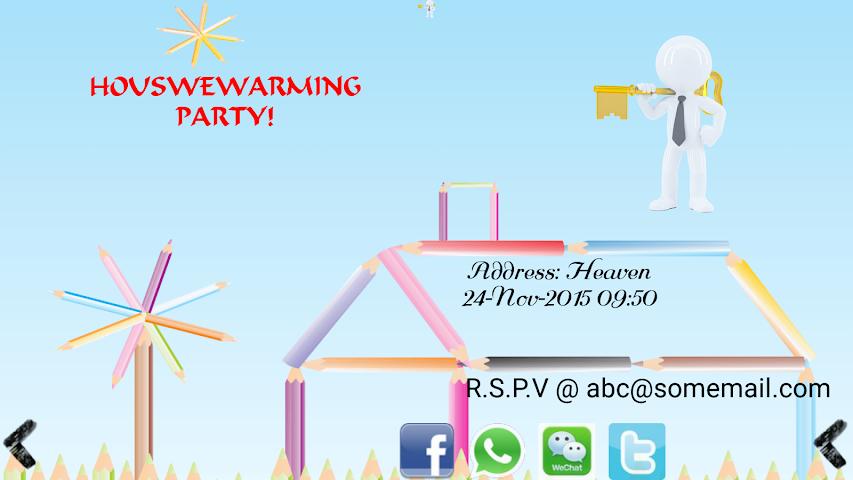 android Housewarming Invitation Maker Screenshot 1