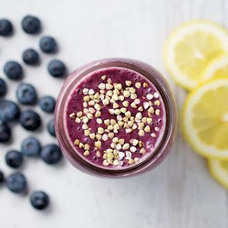 Lemony Blueberry Mango Smoothie.