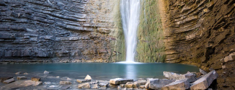 Piscina natural de la cascada de Orós Bajo, Huesca