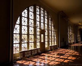 Photo: Window Highlights Ellis Island