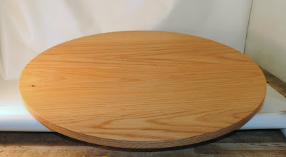"Photo: Bob Grudberg 23"" x 2"" lazy Susan [oak]"