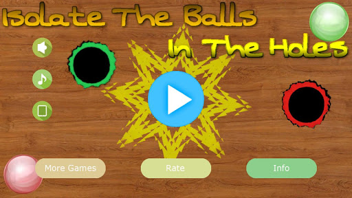 Isolate The Balls In The Holes