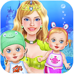 Mermaid Twins Baby Care Apk