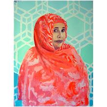 "Photo: Portrait of U acrylic on BFK Rives, 29 x 22"""