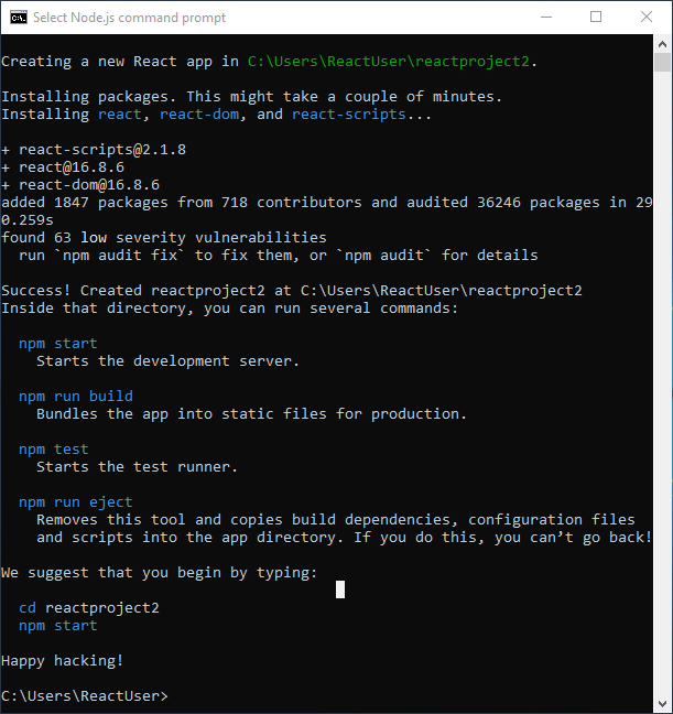 install react js through npm