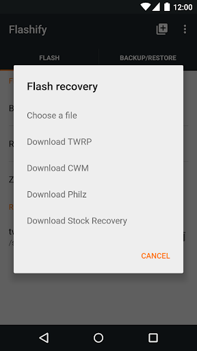 Flashify (for root users) 1.9.2 Screenshots 2