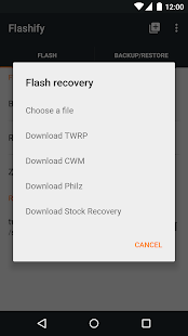 Flashify (for root users) Screenshot 2