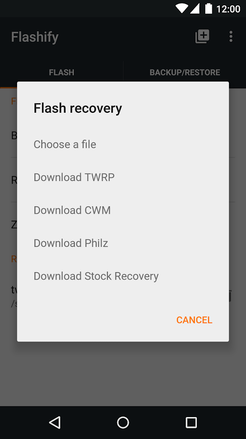 Flashify (for root users)– captura de ecrã