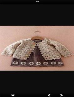 Crochet Baby Cardigan - náhled