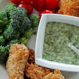 Paleo Chicken Strips & Honey Dill Dip