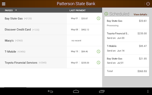 Patterson State Bank Mobile Screenshot 9