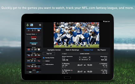 NFL Sunday Ticket for Tablets Screenshot 1