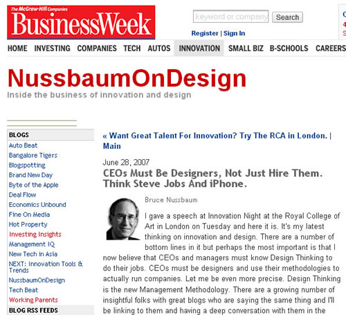 Bruce Nussbaum's article