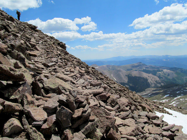 Rocky trail near the summit