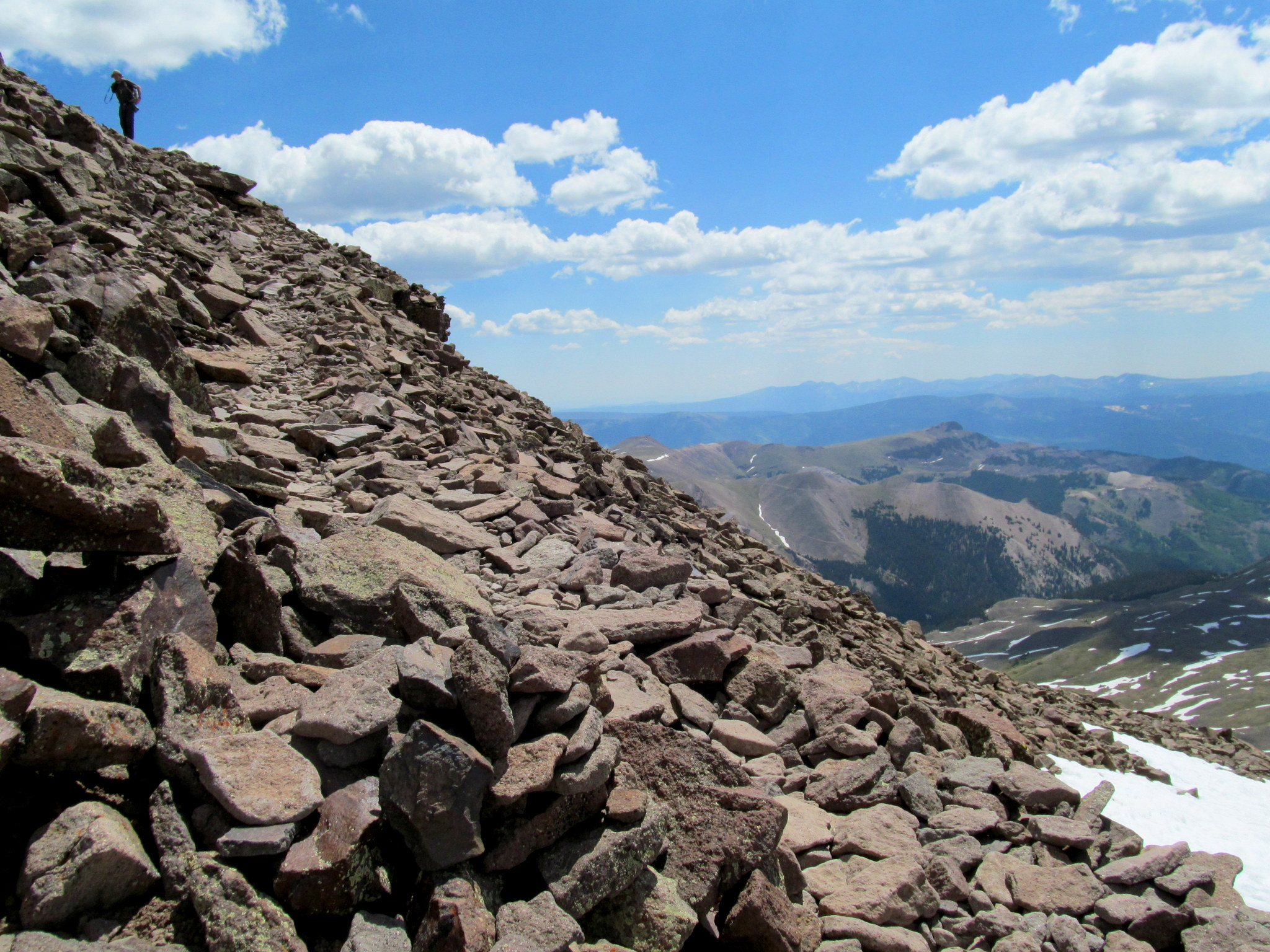 Photo: Rocky trail near the summit