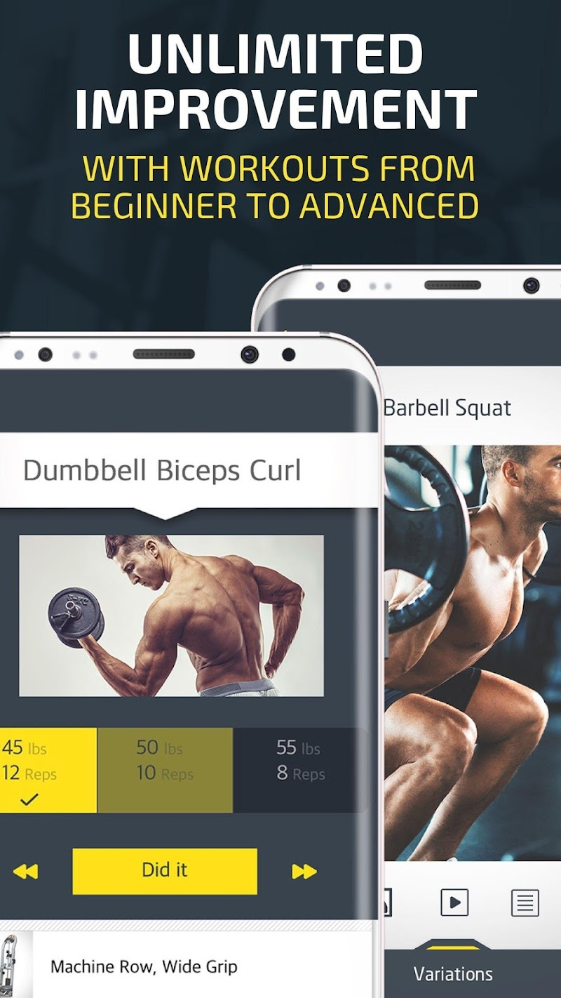 Gym Workout Tracker & Trainer for weight lifting Screenshot 3