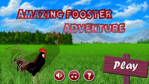 Crazy Super rooster Flying