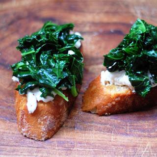 Kale and Burrata Bruschetta
