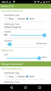 Charger Disconnect Notify screenshot