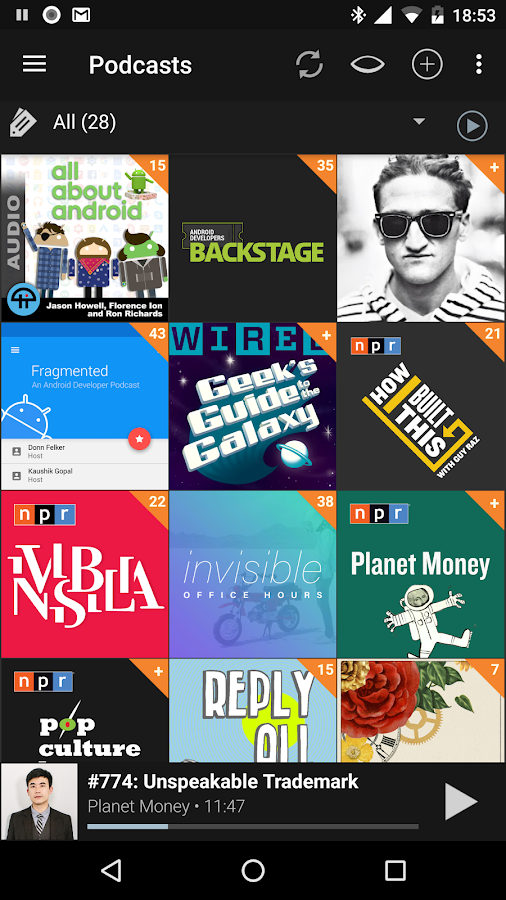 Podcast Addict- screenshot