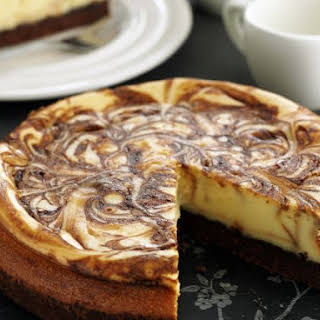 Swirled Coffee Cheesecake.