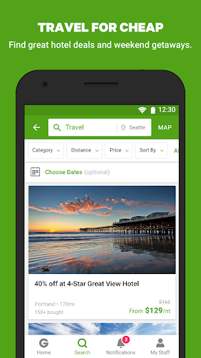 Screenshot 4 for Groupon's Android app'