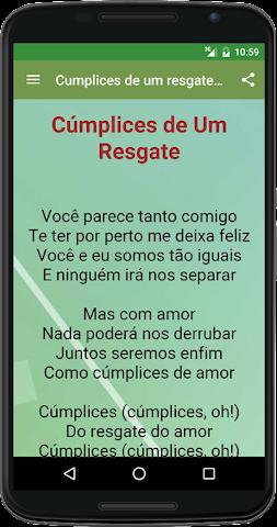 android Cumplices de um resgate musica Screenshot 1