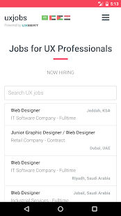 UX Jobs- screenshot thumbnail