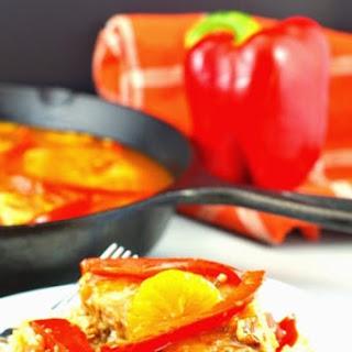 Mandarin Orange & Red Pepper Pork Recipe