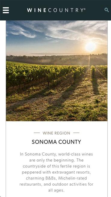 Napa and Sonoma WineCountry- screenshot