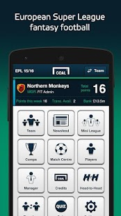 Goal Fantasy Football- screenshot thumbnail